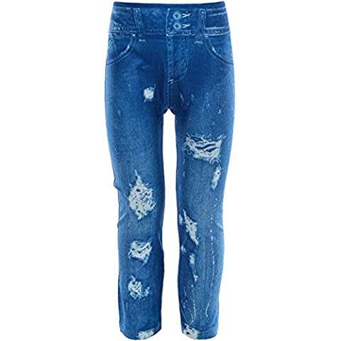 BEZLIT - Leggings - Relaxed - Uni - Fille - bleu - 6 ans