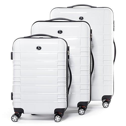 FERG-Conjunto-de-tres-maletas-NICE-ABS-PC-blanco-3-trolley-rgidas-3-sizes-equipaje-con-4-ruedas-360-para-51-x-77-x-30-cm