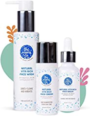 The Moms Co. Natural Vita Rich Complete Night Repair Bundle with Face Wash, Face Cream & Face S