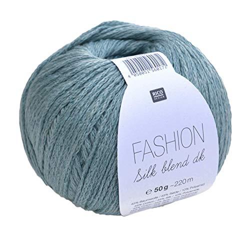 Rico Fashion Silk blend dk Farbe 009 - Patina, edles Garn aus Seide & Baumwolle zum Stricken & Häkeln, Wolle mit Seide zum Stricken (Häkeln Silk)