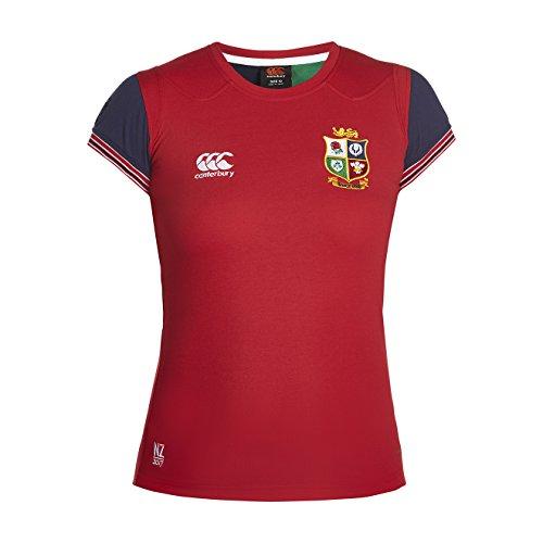 Canterbury Damen Vapo Dri Cotton Training T-Shirt, Rot-Tango Red, 34 (Shirt Rugby Lions Rot)