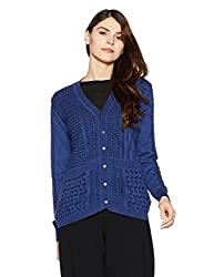 Monte Carlo Womens Cotton Cardigan (1173621VN-1_Blue_38)