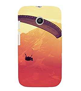 PrintVisa Sports Adventure Parasailing Design 3D Hard Polycarbonate Designer Back Case Cover for Motorola Moto E