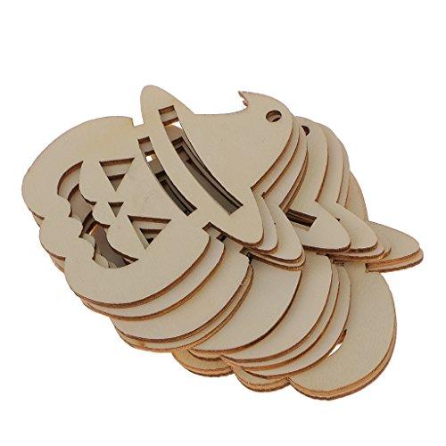 chiwanji 10 Cuts, Holz, Kürbis-Dekoration, Gesicht