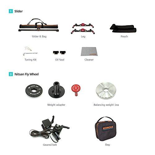 Great Buy for Konova Nitsan Flywheel with K2 100cm Slider (Include Slider)