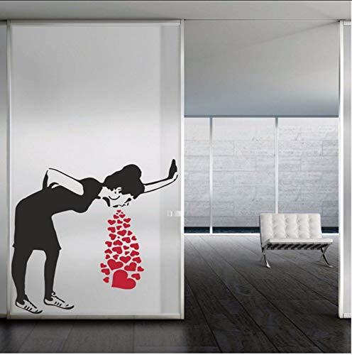 f Wandtattoo Herz Liebe Kranke Kunst Wandaufkleber Modernes Design Wohnzimmer Schönheitssalon Spielzimmer Interior Home Diy 42X51 Cm ()