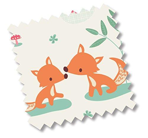 """5312 - millemarille Ersatzbezug Wickelauflage """"sweet foxes"""" I 85x75cm I Ökotex I Füchse"""