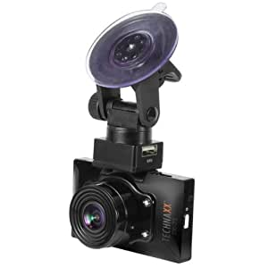 Technaxx TX-21 GPS-Autokamera (6,9 cm (2,7 Zoll) LTPS-Display, eingebautem Mikrofon und Lautsprecher, Full HD, WVGA, VGA) schwarz