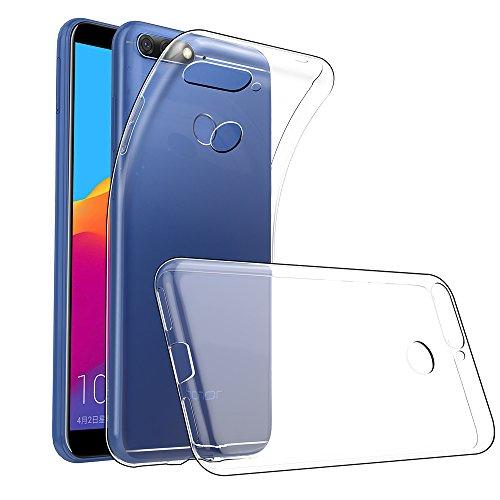GeeRic Für Huawei Y6 2018 Hülle Silikon, Ultra Thin Tasche Cover Schlank Weich Flexibel Anti-Kratzer Schutzhülle Abdeckung Case Transparent für Huawei Y6 2018 / Huawei Honor 7A (5,7 Zoll)