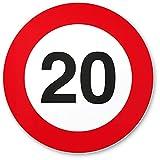 DankeDir! 20 Geburtstag Verkehrsschild - Kunststoff Schild, Geschenk 20. Geburtstag, Geschenkidee Geburtstagsgeschenk Zwanigsten, Geburtstagsdeko/Partydeko / Party Zubehör/Geburtstagskarte
