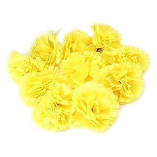 Mentin–Juego de 10Cabeza de Flor de Clavel Artificial decoración de casa artesanía