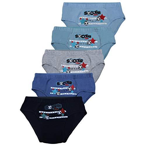 PiriModa 5 STÜCK Jungen Baumwolle Slips Unterhosen (92-98 (2-4Jahre), Modell 3-5 STÜCK) (Jungen Unterwäsche Größe 6)