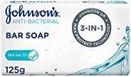 JOHNSON'S, Bar Soap, Anti-Bacterial, Sea Salts
