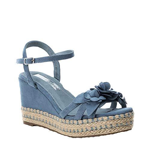 XTI 35040, Sandali con Chiusura sul Retro Donna, Blu Jeans, 38 EU