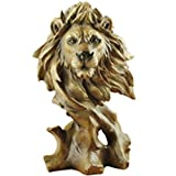 ZSPXIN Tête Lion Figurines Statue,Abstrait Art Sculpture Decor Accueil décoration Artisanat Ornement de décoration Bureau-A