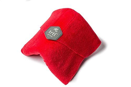 Trtl Pillow - Wissenschaftlich belegt super weiches Nacken unterstützendes Reisekissen - Waschmaschinenfest (Rot, Erwachsener)