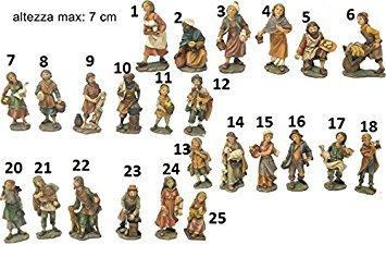 Set 10 personaggi presepe 7 cm #pi 8033113032905
