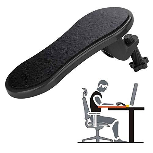 Computer Arm-Stütze Arm Handgelenkauflage Computer-Armlehne Pad 180 Grad drehen Adjustable Arm Handgelenk Rest Unterstützung Home Office Schreibtisch Stuhl Extender (Color : Black)
