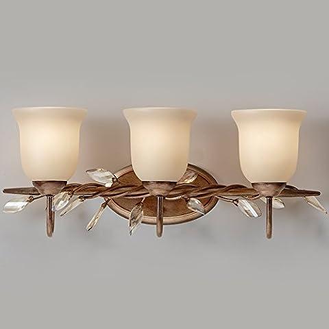 GaoHX semplicità pastorale American Iron Vintage Lampada da parete mobili