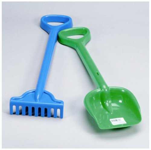 Simba Sandspielzeug 107124115 Kunststoff Rechen mit Schaufel