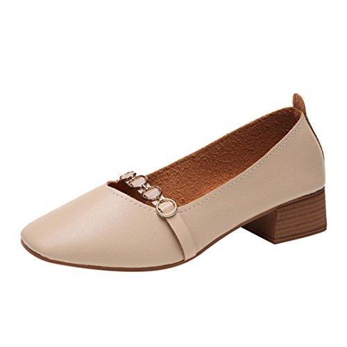 Scarpe moda da donna, sonnena calzature da donna con piedi a bocca larga e tinta unita e poco profonda scarpe basse a tacco alto da donna scarpe da lavoro elegenti