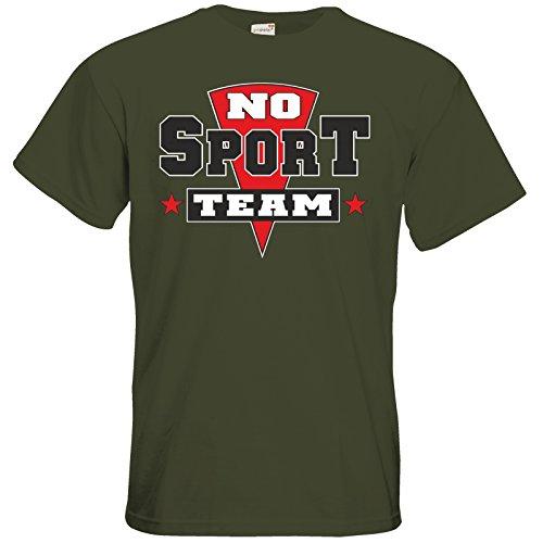 getshirts - RAHMENLOS® Geschenke - T-Shirt - NO SPORT Team Khaki