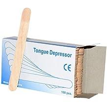 x100 palos de cera (1 paquete) espátulas/ depresores de lengua ~ madera de excelente calidad. Palos de cera / Espátulas de 6 pulgadas