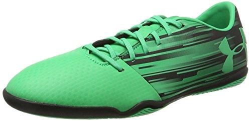 light in, Herren Fußballschuhe, Grün (Green/Black), 43 EU (Under Armour Fußball Indoor Schuhe)