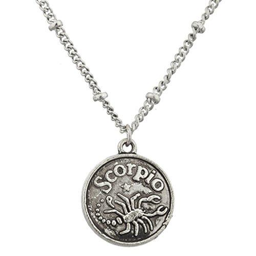 lux-accessories-burnish-silver-scorpio-astrological-pendant-charm-necklace