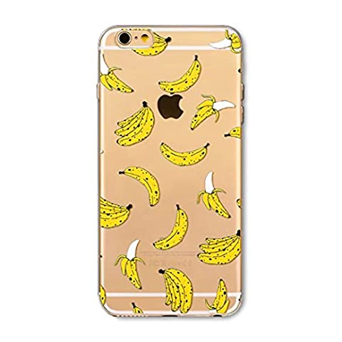 iphone 7 Plus (5.5) Shell Cover en Silicone TPU Transparent Crystal Coque de Protection Anti Rayures Anti Chocs Modifs - Banana Bunch