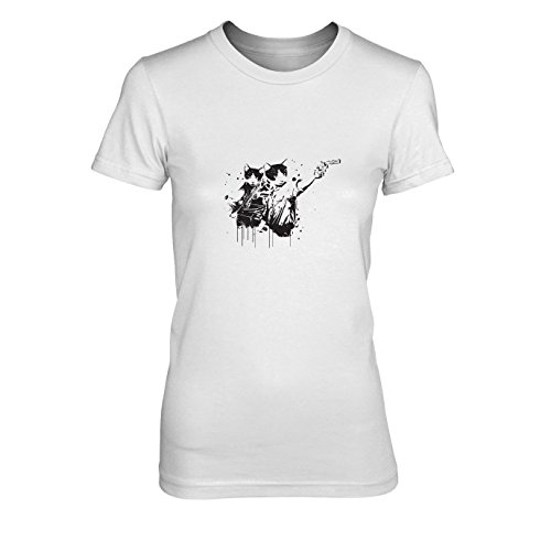 Walking Cats - Damen T-Shirt, Größe: XL, Farbe: weiß (2 Pc Dead Season Für Walking)