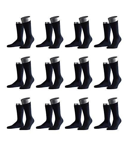 Preisvergleich Produktbild FALKE Herren Business-Socken Swing 14633 12 Paar,  Farbe:Blau;Sockengröße:47-50;Artike... dark navy