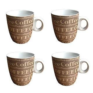 AiO-S - OK 4X Kaffeebecher Kaffeetasse 6er Set mit Aufschrift