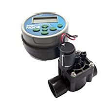 HUNTER 55147 – Battery-Operated Irrigation Programmer Node, 1 Station, with Solenoid Valve