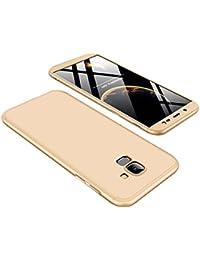 Schutzhülle für Samsung Galaxy J6, Hülle Hardcase 3 in 1 Ultra Dünner 360 Full Body Schutz Anti-Kratzer Stoßfest Hart PC Case Cover Bumper Handyhülle für Samsung Galaxy J6