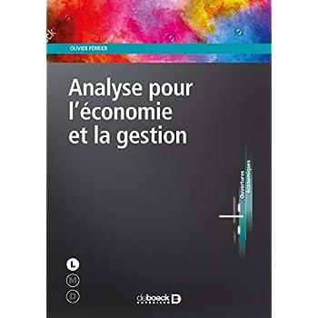 Analyse pour l'économie et la gestion