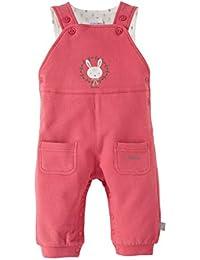 BORNINO La salopette sweat pour bébé pantalon bébé, taille 50/56, rouge