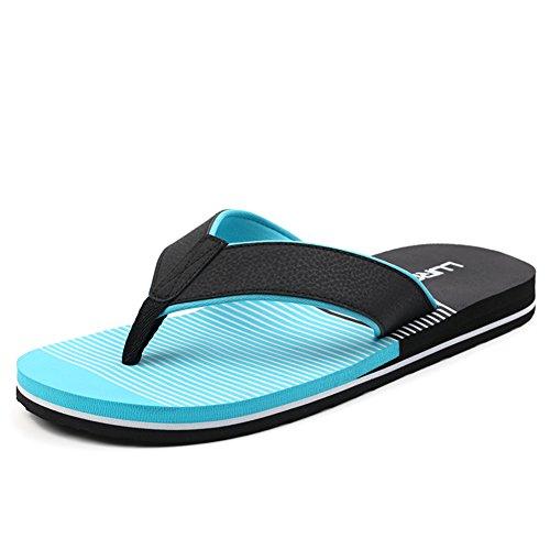 Masculine plat chaussons/Étés sandales et pantoufles/Pincer slip sandales/Souliers de plage B