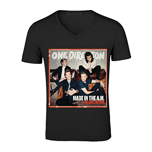 One Direction Made In The Am Deluxe Edition Homme V Neck Musict Shirt Large