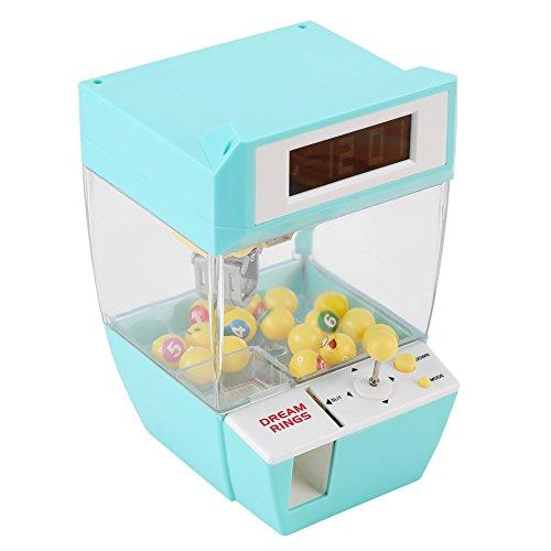 fdit Electronic Crane Grabber Maschine Spielzeug Mini Funny Creative 2in 1LCD Display Wecker elektronische Claw Spielzeug Kinder Geschenke grün