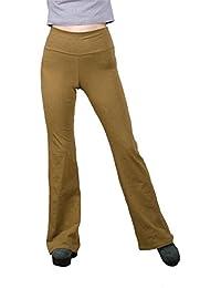 Lofbaz Mujer Pantalones Femeninos para Yoga con Doblez elástica en la Pretina