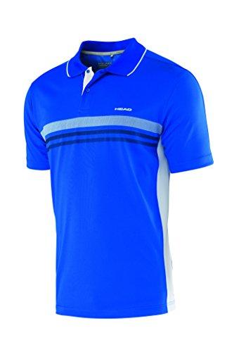 HEAD Oberkörper-Bekleidung Club Polo Shirt Technical Men, Blau, L, 811655-BL