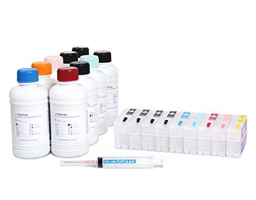 Preisvergleich Produktbild Starter Set kompatibel für Epson SureColor SC-P800 inkl. Patronen, Tinten, Spritzen - 9x 250ml
