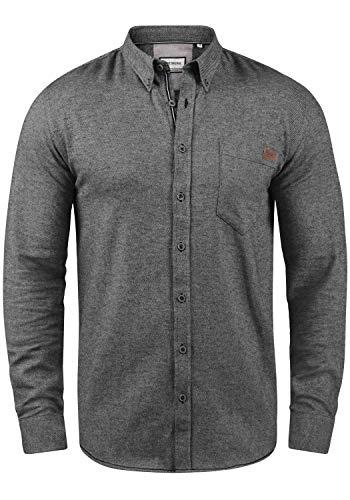 SHINE Original Ment Herren Freizeithemd Hemd Mit Brusttasche Aus 100% Baumwolle, Größe:XL, Farbe:Black