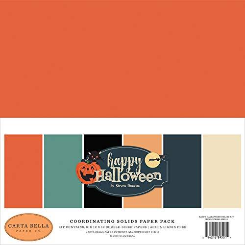 Carta Bella Paper Company CBHAL104015 Happy Halloween Festes Kit Papier, Orange, Schwarz, Blau, Marineblau