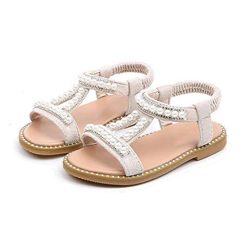 Sommer-Baby-Schuh-Kleinkind-Kind-Kind-Prinzessin Bequeme Schuhe Sandalen, Weiß, 9 (Breite Extra Kunststoff-wrap)