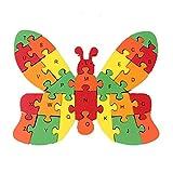 NiceButy Frühe Bildung Puzzle Holz 26 Farbholzbuchstaben Cartoon Schmetterling Puzzle Spielzeug Cartoon Bausteine ??frühkindlichen Bildung Spielzeug Vorschulkinder 1 Satz