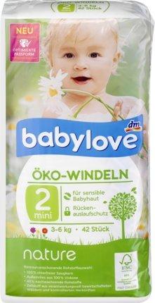 babylove Öko-Windeln nature Größe 2, mini 3-6 kg, 42 St