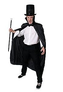 I Love Fancy Dress ilfd4545capa negra con cuello para Halloween vampiro disfraz (talla única)