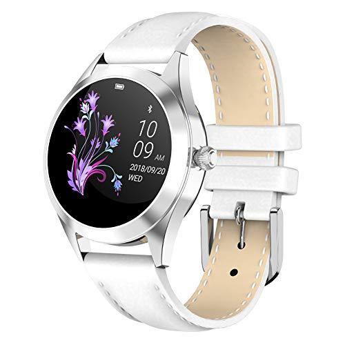 pxyuan sport smartwatch, lady smart watch promemoria fisiologico, tracker di attività e fitness con gps integrato, frequenza cardiaca, musica, notifiche intelligenti, impermeabilità ip68-silver